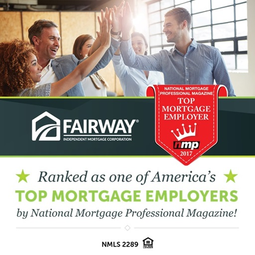 Fairway Independent Mortgage Corporation Named One of the Top Mortgage Employers in America