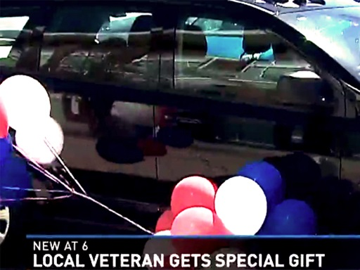 Local Veterans Family Reveives New Car